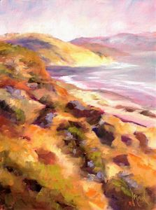Towards Torrey Pines, 10x8, oil on panel, original oil painting by Mandy Main