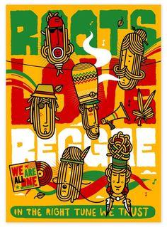 Poster Title: Woodstock Peace Collage Music Poster Print - Size: 24 x 36 inches Reggae Art, Reggae Music, Dub Music, Reggae Style, Rastafarian Culture, Rasta Art, Pop Art, Rasta Colors, Rasta Party