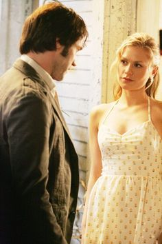 Bill Compton and Sookie Stackhouse in the beginning.