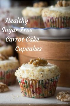 These carrot cake cupcakes are the best sugar free and low carb cupcakes. Great for keto. via @lowcarbmaven