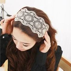 Sweet Style and Ladylike Lace Embellished Hair Band    Hair Accessories    rosewholesale