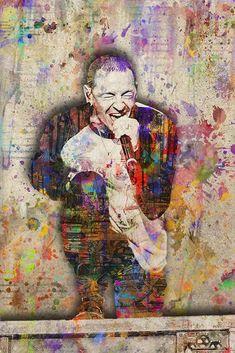 Chester Bennington Pop Art Memorial Poster, Chester Bennington Memoria – McQDesign