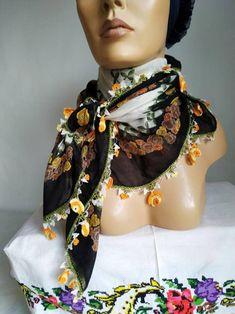 No Slip Headbands, Purple Scarves, Handmade Scarves, Cotton Scarf, Long Scarf, Square Scarf, Womens Scarves, Crochet Hooks, Muslim