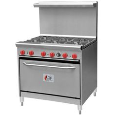 Liquid Propane Cooking Performance Group 6 Burner Gas Range with Standard Oven 36 Gas Range, Oven Range, Commercial Cooking Equipment, Food Service Equipment, Restaurant Supply Store, Restaurant Kitchen, Arched Cabin, Gas Oven, Summer Kitchen