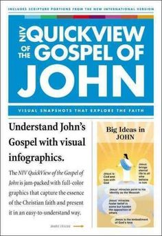 "Read ""NIV, QuickView of the Gospel of John, eBook"" by Christopher D. Hudson available from Rakuten Kobo. Using eye-catching infographics, the QuickView of the Gospel of John presents an overview of the Christian faith in an i."