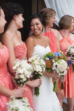 Mixed Coral Bridesmaid Dresses