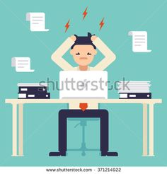 people stressed because of work illustration - Buscar con Google