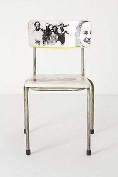 Would love to do this with pictures of my grandparents. How cool! Artista Lesson Chair, Fondness - Anthropologie.com