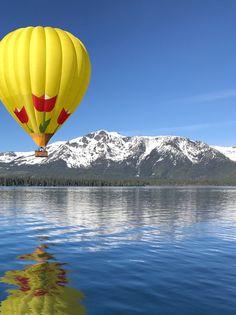 Flying Balloon, Air Balloon Rides, Hot Air Balloon, Colorful Clouds, Colourful Balloons, Air Ballon, South Lake Tahoe, Ciel, Nature Photos