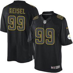 NFL Mens Elite Nike Pittsburgh Steelers http://#99 Brett Keisel Impact Black Jersey$129.99