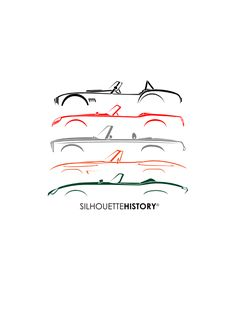 Roadster of Sixties SilhouetteHistory Silhouette of legendary roardsters of the early 60s: AC Cobra, Ferrari 250 GT SWB California Spyder, Mercedes-Benz 300 SL (W113), Chevrolet Corvette Sting Ray (C2), Jaguar E-Type (XKE) Home | FB | Instagram |...