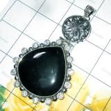 CHUNKY STYLE LARGE CLOSE OUT PENDANTS WITH 925 SILVER  gram Black Onyx   By Shaurya International