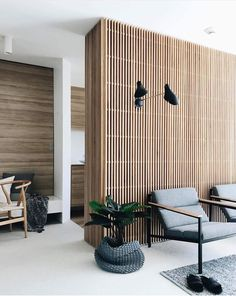 Home Decoration Styles .Home Decoration Styles Wooden Wall Design, Wood Interior Design, Interior And Exterior, Wood Cladding Interior, Plywood Interior, Wood Slat Wall, Minimal Apartment, Living Room Decor, Living Spaces