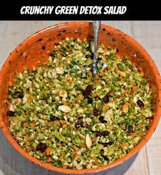 We love a good salad bar and think you will love this Crunch Green Detox Salad. They offer an abundance of healthy salads and side dishes. This detox salad is made with raw cruciferous vegetables like broccoli, cauliflower, and carrots. The ingredients in this detox salad contain nutrients that flush and detoxify your system.