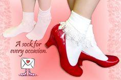 Ruffle sock with high heels