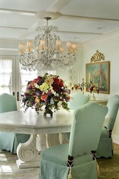 Happy Hollow: A Gambrel-Style House & Guest Cottage. Discover more info about elegant design ideas by simply clicking through. French Country Dining Room, Country Stil, Country French, French Chic, French Style, Storybook Homes, Storybook Gardens, Home Decoracion, Elegant Dining
