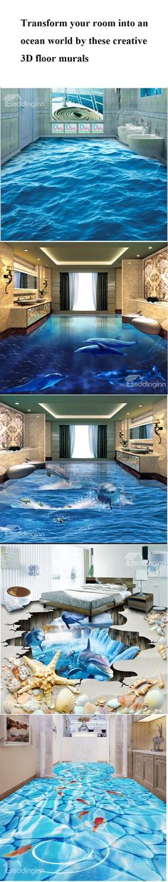 Need a new look for your room? These 3D floor murals will make  your room more special!