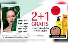 Promoción de 3x2 en todos los productos de marca Douglas