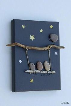 nature crafts for kids ; easy nature crafts for kids ; nature crafts for kids preschool ; nature crafts for kids summer ; nature arts and crafts for kids Kids Crafts, Easy Crafts To Make, Diy And Crafts, Arts And Crafts, Modern Crafts, Twig Crafts, Family Crafts, Stone Crafts, Rock Crafts