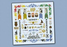 Harry Potter parody - Pillow Sampler Cross stitch PDF pattern