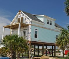 Our Beautiful Coffee Bluff Custom Modular Home being set Beachside. Beach Home. Contact us today at Affinity Building Systems, LLC in Lakeland, GA at (229)-482-1200