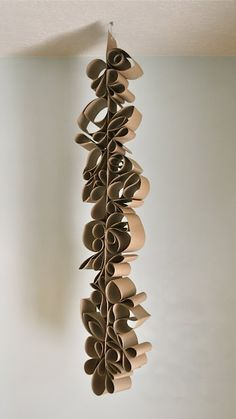 Something to do with those toilet paper rolls we normally just throw away.