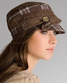 """Military Cap with Bow""  My daughter in law would look so cute in this as well as my niece!"