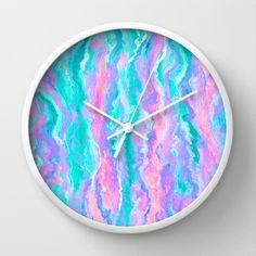 Aqua Melt Wall Clock by Lisa Argyropoulos Best Wall Clocks, Tic Toc, Cool Walls, Lisa, Home Decor, Decoration Home, Room Decor, Home Interior Design, Home Decoration