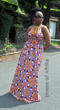 NEW LISTING Lola African print maxi dress par HouseofAfrika sur Etsy