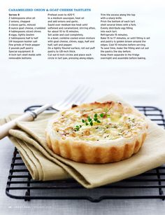 Carmelized Onion and Goat Cheese Tartlet
