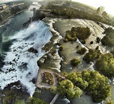 drone-pictures- One of the three powerful waterfalls that make up Niagara Falls, straddling the border of Canada and the US. Drones, American Falls, Air Photo, Aerial Drone, Birds Eye View, Fall Photos, Drone Photography, Aerial View, The Great Outdoors
