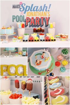 Pool Party Birthday Ideas for Boys