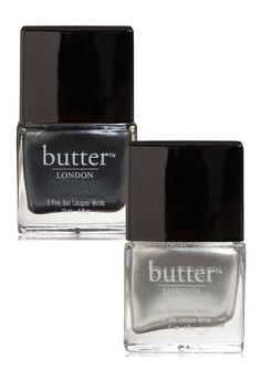 butter LONDON Chimney Sweep Nail Laquer, $15; butterlondon.com butter LONDON Diamond Geezer, $15; butterlondon.com  - ELLE.com