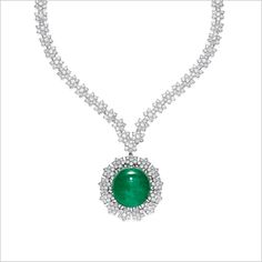 Emerald and Diamond Pendent Necklace - Alain. Colombian Emeralds, Royal Jewelry, Pendant Necklace, Collar, Diamond, Jewlery, Bracelet, Antique, Glow
