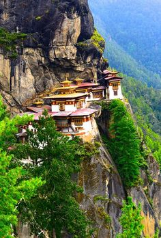 Tiger's Nest Monastery, Taktsang trail, Bhutan (Someday, I dream of being there)