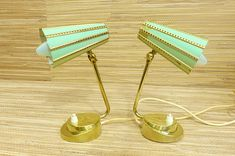 Set of 2 Pair of Bedside Lamps Table Lamp Mid Century Vintage Wall Sconces, Vintage Lamps, Cool Lamps, Unique Lamps, Mid Century Decor, Mid Century House, Retro Lighting, Modern Lighting, Mid-century Modern