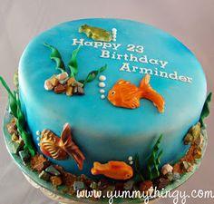 Yummy Thingy: Aquarium Fish Theme Cake