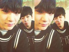 BTS Tweet - Suga & Jungkook (selca) 130614