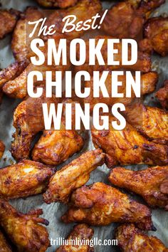 Smoked chicken wings are the perfect snack or appetizer for a barbecue, big game or picnic. We show you how to make mild or hot fall-off-the-bone delicious chicken wings that will be a crowd-pleaser. Be sure to make a lot! Smoked Chicken Wings Rub, Smoker Chicken Wings, Smoke Chicken Wings Recipe, Grilled Chicken Wings, Cooking Chicken Wings, Pellet Grill Recipes, Grilling Recipes, Smoked Chicken Recipes, Chicken Smoker Recipes