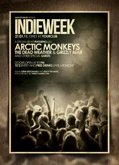 Indie Flyer / Poster by IndieGround Design Flyer And Poster Design, Poster Design Inspiration, Graphic Design Posters, Poster Designs, Rock Posters, Band Posters, Event Posters, Music Posters, Festival Posters