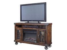 Industrial Fireplace Console #steinhafels