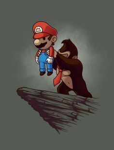 Nintendo's Donkey Kong mashed up with Super Mario Bros in a parody of the Lion King by Nacho Diaz Arjona aka Naolito. Super Mario Kunst, Super Mario Art, Donkey Kong, Mario Brothers, Mario Bros, Video Game Art, Illustrations, Cartoon Art, Chibi