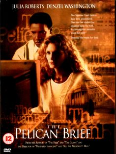 The Pelican Brief - 1993  Two Supreme Court Justices have been assassinated. One lone law student has stumbled upon the truth. An investigative journalist wants her story. Everybody else wants her dead.  The movie that I fell in love with Denzel Washington in. The suit was a big plus.