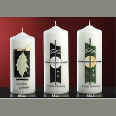 Candles for sorrow - Design and Church Candles since 1792 Church Candles, Pillar Candles, Baptism Candle, Photo Candles, Design, Decorated Candles, Petra, Ideas, Carved Candles