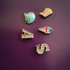 Origami Owl floating charm for living lockets OMG bubble word, popcorn bucket, ice cram conr, jeweled A & jeweled S. contact me to bundle any 5 charms in my closet.  5 for $10. Origami Owl Jewelry