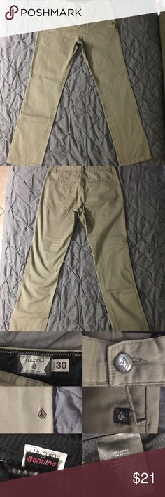 Beige Volcolm Brand fitted slacks For Sale! Beige/Khaki colored Volcolm brand 4 pocket fitted slacks Volcom Pants Chinos & Khakis