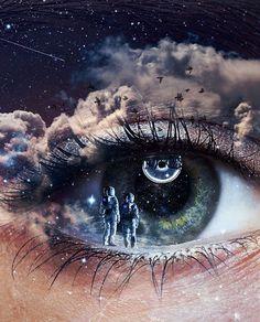 Getting lost in your eyes feel like - By - Eye Art, Eye Photography, Eyes Artwork, Surreal Art, Aesthetic Eyes, Eyeball Art, Galaxy Eyes, Space Art, Aesthetic Art