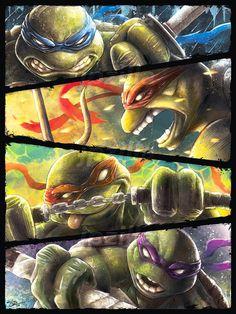 TMNT Art Poster | Teenage Mutant Ninja Turtles | Epic | Painting | Premium Quality Giclee Archival P