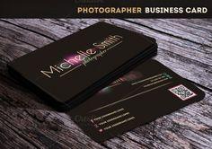 Photographer Business Card by MoonStarer Design on Creative Market