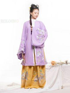 Cotton Ancient Chinese Costumes Curved hem dress Quju Han Dynasty Hanfu Womens Clothing - US $269.00